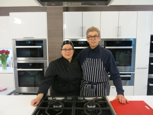 Chopped Canada's Anne in the Miele kitchen
