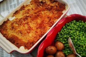 Cod au gratin, a feast for hungry sailors