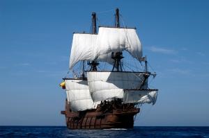 El Galéon under sail