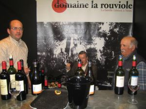 Franck Léonor, Cousin Robert and André Léonor at Vinisud 2006