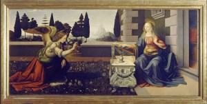 "Leonardo da Vinci's ""Annuciation"""