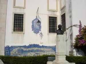 Mosaic depicting Praca do Comercio before the earthquake