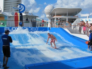 Go surfing aboard your ship (courtesy RCCL)