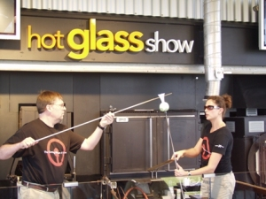 Hot glass blowing show on Celebrity ship