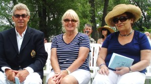 Nigel, Diane and Gina at the Blessing of the Boats, Toronto Island