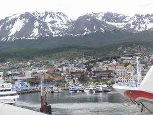 Ushuaia is the starting point for many cruises to Antarctica