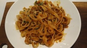Fetuccini bolognese at ASK Italian, Lewes, East Sussex
