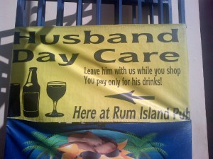 Husband Day Care at Rum Island Pub
