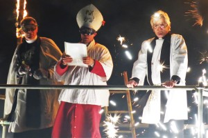 Clergy bombarded with fire crackers
