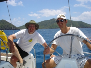 Brian and Adam at the helm