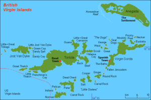 Map of the BVI