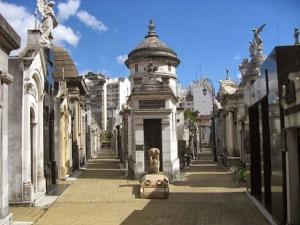 Recoleta Cemetery, where Evan Peron is buried