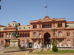 Casa Rosada, where Eva Peron appeared on the balcony