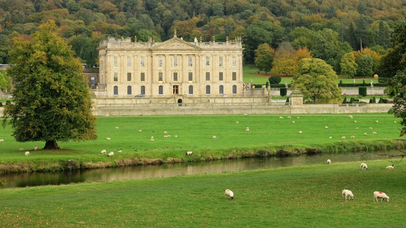 Featured image: Chatsworth across the fields