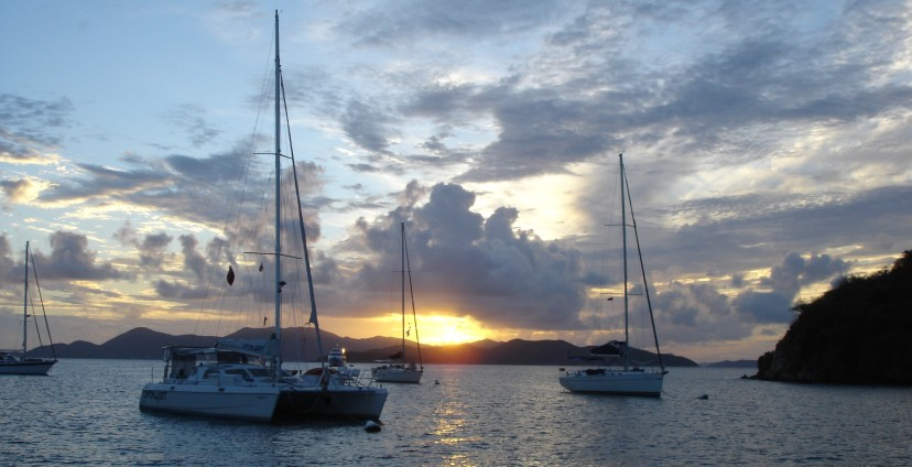 Featured image - sunset in the BVI