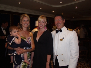 Celebrity Cruise Line Captain with guests
