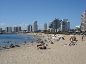 Punta del Este's beautiful beach strip
