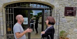 Didier Négron with Hélène at Domaine Roger Sabon