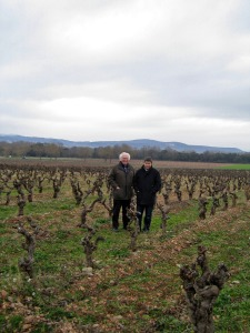Two wine guys outstanding in Charles' field