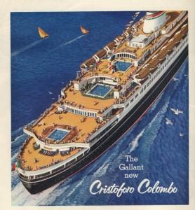 The Italian Line's Cristoforo Colombo