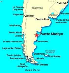 PALAVER IN PUERTO MADRYN Gentlemans Portion - Argentina map puerto madryn