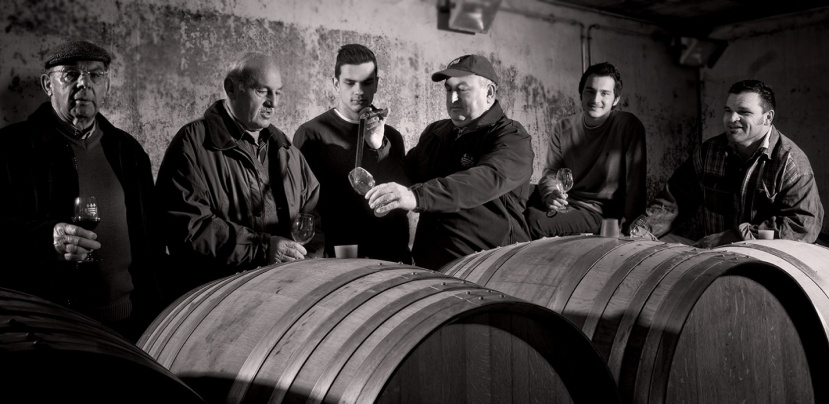 The Chabriers in their barrel chais