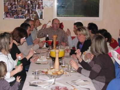 The fondue party