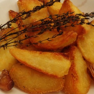 Lemon and thyme roast potatoes