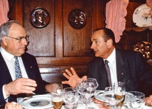 Helmut Kohl and Jacques Chirac