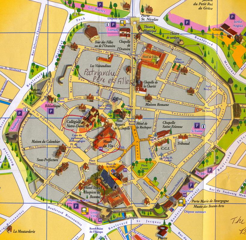 Beaune map