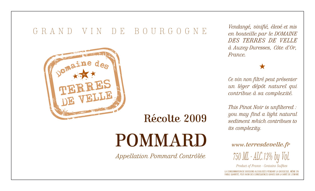 Pommard label