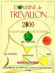 Domaine de Trévallon 2000 Label