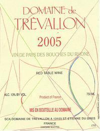Domaine de Trévallon 2005 Label