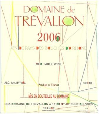 Domaine de Trévallon 2006 Label