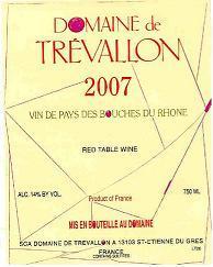 Domaine de Trévallon 2007 Label