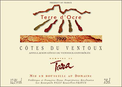 Tara Terre d'Ocre Blanc label