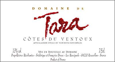 Tare Côtes du Ventoux label